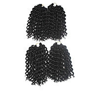Pre-Schleife Crochet Borten Haarverlängerungen 9Inch Kanekalon 1 Package For Full Head Strand 170g Gramm Haar Borten