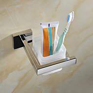 מחזיק למברשת שיניים פלדת אל חלד התקנה על הקיר 12.9*11.6*9.4cm(5.08*4.57*3.70inch) פלדת אל חלד מודרני