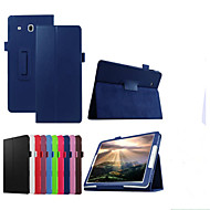 Varten Tuella / Flip Etui Kokonaan peittävä Etui Yksivärinen Kova Tekonahka Samsung Tab E 9.6
