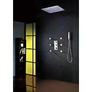Sprchová baterie - Současné - LED / Termostatický / Dešťová sprcha / Widespary / Včetne sprchové hlavice - Mosaz (Pochromovaný)