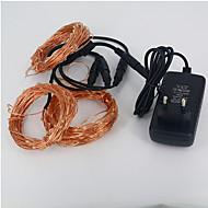 Kupfer-String Weihnachtsbaum kleine Laterne wasserdichten Anzug 30m 300led 12v 3a Stromversorgung