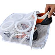 靴バッグ用織物のポータブル洗浄&ボックス防塵洗濯吊り靴は白ケア