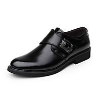 Homme-Mariage Soirée & Evénement Décontracté-Noir Marron-Talon Bas-Confort Chaussures formelles-Mocassins et Chaussons+D6148-Cuir