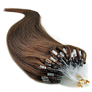 "20"" jet μαύρο (# 1) 100s μικρο βρόχο επεκτάσεις ανθρώπινα μαλλιών"