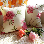 1 pcs Algodão Fronha,Floral / Listado Antiquado / Tradicional/Clássico