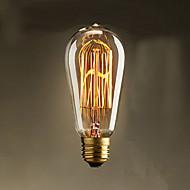40W st58 Edison žarulje sa žarnom niti 19 E27 svilene vertikalna žica retro dekorativne žarulje