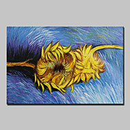 Kézzel festett Híres Virágos / Botanikus Festmények,Klasszikus Tradicionális Egy elem Vászon Hang festett olajfestmény For lakberendezési