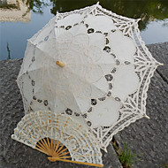 """חתונה / חוף כותנה מטרייה 26""""(כ-66 ס""""מ) עץ 30.7""""(כ-78 ס""""מ)"""