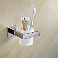 Contemporary Mirror Polished Finish Stainless Steel Material Toothbrush Holder