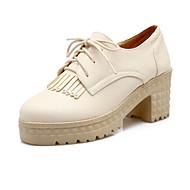 Women's Heels Spring Summer Fall Platform Comfort Leatherette Customized Materials Outdoor Office & Career Dress CasualChunky Heel