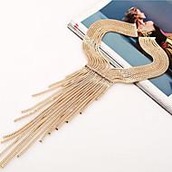 Dámské Obojkové náhrdelníky Šperky Slitina imitace Diamond Šperky Třásně Stříbrná Zlatá Šperky Párty Denní Ležérní 1ks