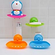 vákuumos tapadókorong szappanos doboz fürdőszoba kivágott vizet hordó zökkenőmentes tároló állvány (véletlenszerű szín)