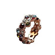 Prstýnky Denní / Ležérní Šperky Slitina / Štras Dámské Prsteny s kamenem 1ks,8 Různé barvy