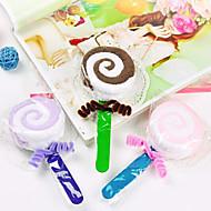 fibre de forme de cadeau d'anniversaire de sucette serviette créatrice (couleur aléatoire)