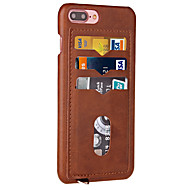 For Apple iPhone 7 Plus 7 Case Cover Card Holder Back Cover Solid Color Hard PU Leather 6s Plus 6 Plus 6s 6