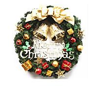 jul dekorative gave anheng gull krans døren dekorasjon 30cm