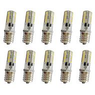 10 pcs 3w e17 lumière de décoration t 64led 3014smd 250-350lm blanc chaud / blanc frais réglable ac110v / 220 v