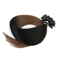 Neitsi 20'' 50g/lot 1g/s Ombre Pre bonded Nail U Tip Fusion  Human Hair Extensions 100% Remy T1-6#