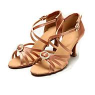 Sapatos de Dança(Transparente) -Feminino-Personalizável-Latina Jazz Moderna