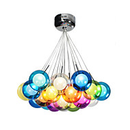 UMEI™ Modern Bubble Globe Colored Glass Pendant Light with 19 Lights