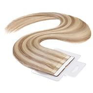 neitsi 16 '' ταινία 60g / lot 40pcs στις επεκτάσεις ανθρώπινα μαλλιών 100% ombre ευθεία remy υφάδι δέρμα