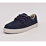 Women's Sneakers Spring Summer Fall Comfort Canvas Outdoor Office & Career Casual Flat Heel Lace-up Dark Blue Walking