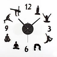 Moderne/Contemporain Rétro Sports Vacances Inspiré Famille Amis Dessin animé Horloge murale,Rond Nouveauté Acrylique Métal 70