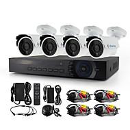 YanSe® 4CH AHD-M 1200TVL CCTV Camera DVR Kit IR Waterproof Security System 720P