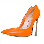 Damen-High Heels-Büro Lässig Party & Festivität Kleid-Kunstleder-StöckelabsatzOrange Gelb Rose Rosa Rot Hautfarben