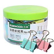 Sunwood® 2035 19 Mm Color Long Tail Clip 40Pcs/Set