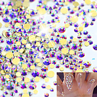 1440pcs SS3-16 New Gold Flat Back Crystal For 3D Nail Art Decorations Clear Glass Stones DIY Rhinestones