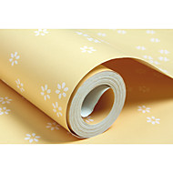 Floral Árvores/Folhas Papel de Parede Para Casa Contemporâneo Revestimento de paredes , Não-tecido de papel Material adesivo necessário
