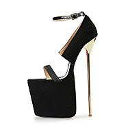 Women's Heels 22CM Heel Height Sexy Round Toe Stiletto Metal Heel Pumps Party Shoes
