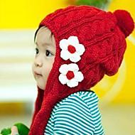 Mädchen Hüte & Kappen Winter Strickware Rot
