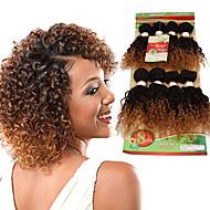 8inch 8 pcs /lot Brazilian deep curly Virgin Hair Brazilian Virgin Hair kinky curly  Hair Weave Bundles cheap human hair