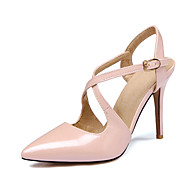 Women's Sandals Spring Summer Fall Other Patent Leather Office & Career Party & Evening Stiletto Heel Black Red Nude