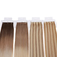 neitsi 7a klasse 16 '' 30g / lot 20pcs tape i human hair extensions 100% rett remy hud innslaget ombre