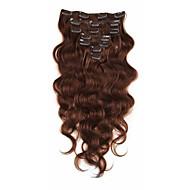 klamerka w ludzkich włosów rozszerzeniach brazylijski dziewiczy włosy 7a afroamerykanin ciało fala ins klip