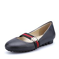 נשים-שטוחות-PU-אחר רצועת קרסול-שחור אדום בז'-חתונה שטח משרד ועבודה שמלה יומיומי מסיבה וערב-עקב שטוח