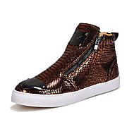 Støvler-PU-Komfort-Herre-Sort Sølv Guld-Udendørs Fritid-Flad hæl