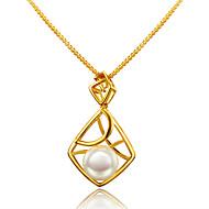 Modische Halsketten Perle Anhängerketten Schmuck Geburtstag Verlobung Hochzeit Party Alltag Normal Weihnachts Geschenke Geometrische Form