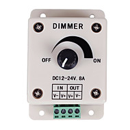 PWM-tompítás vezérlő led vagy szalag 12 voltos 8 ampadjustable fényerejű kapcsoló dimmer vezérlő DC12V 8a 96w led csík fény