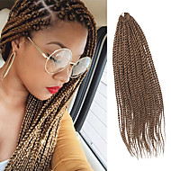 Senegal Twist Braids Haarverlängerungen 20Inch Kanekalon 35 Strands (Recommended By 3 Packs for a Full Head) Strand 98g Gramm Haar Borten