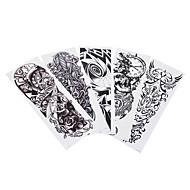 5 Tattoo Aufkleber Totem Serie Non Toxic Muster Große Größe Waterproof KartonDamen Herren Teen Flash-Tattoo Temporary Tattoos