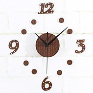 Modern / Contemporary Tradycyjny Retro Święto Inspirujące Rodzina Znajomi Rysunek Zegar ścienny,Zaokrąglanie Nowość Akrylowy Metal Drewno
