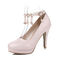 Women's Heels Spring Summer Fall Other PU Party & Evening Casual Stiletto Heel Imitation Pearl Tassel Black Pink White
