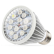 12W E27 / E14 / GU10 førte vokse lyser 12 high power LED (8red 2blue 1white 1uv) 290-330lm ac 85-265 v 1 stk