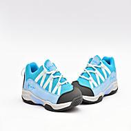 Feminino-Tênis-ConfortoCinzento Claro Rosa claro Azul Claro-Camurça Tule-Ar-Livre Escritório & Trabalho Social Casual Para Esporte