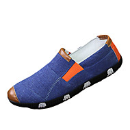 Men's Athletic Shoes Spring Fall Comfort PU Casual Flat Heel Lace-up Blue Green Orange Soccer