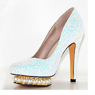 Women's Heels Spring Summer Fall Other Glitter Wedding Party & Evening Casual Stiletto Heel Beading Sequin Black Red White